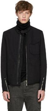 The Viridi-anne Black Band Collar Jacket