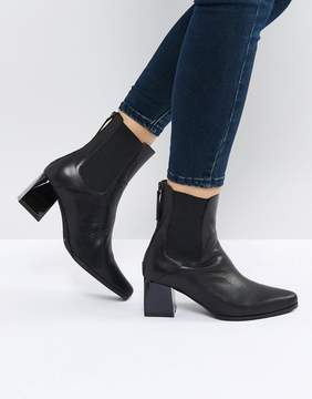 Sol Sana Ronda Black Leather Ankle Boots