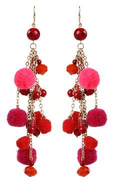 Amrita Singh Red & Fuschia Cubana Earrings