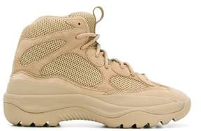 Yeezy Men's Beige Leather Ankle Boots.