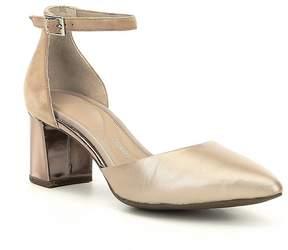 Rockport Salima Total Motion Ankle Strap Block Heel Pumps