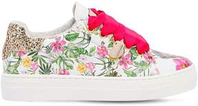 MonnaLisa Jungle Book Printed Leather Sneakers