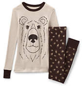 Lands' End Boys Snug Fit Pajama Set-Grizzly Bear