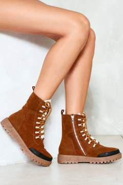 Nasty Gal nastygal Take a Hike Vegan Suede Boot
