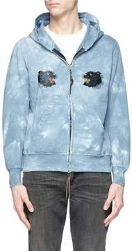 Remi Relief Panther print tie dye zip hoodie