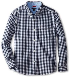 Tommy Hilfiger Kids - Baxter L/S Woven Shirt Boy's Long Sleeve Button Up