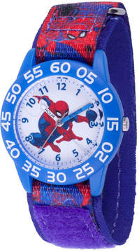 Marvel Spiderman Boys Blue Strap Watch-Wma000189