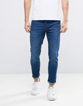 Pull&Bear Slim Jeans In Dark Wash