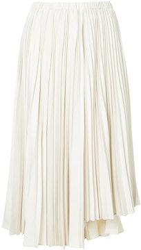 ESTNATION asymmetric pleated skirt