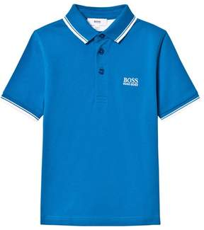 BOSS Turquoise Branded Polo