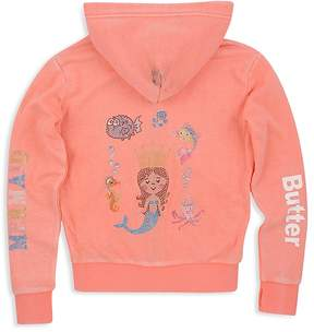 Butter Shoes Girls' Mermaid Zip-Up Hoodie - Little Kid