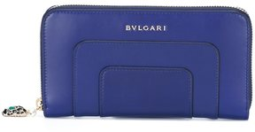 Bulgari zip up wallet