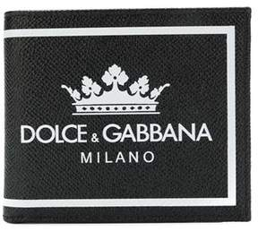 Dolce & Gabbana Dolce E Gabbana Men's Bp1321ai475hnr18 Black Leather Wallet.