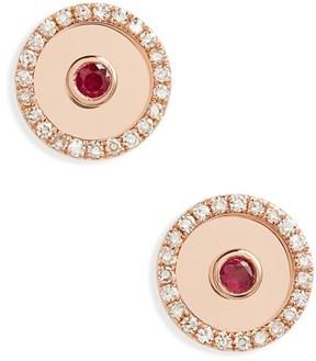 Ef Collection Women's Diamond Bullseye Stud Earrings