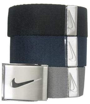 Nike NEW Men's Web Belt Golf 3-Pack Fits up to 42' OSFM - Choose Colors!