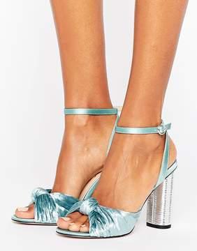Office Velvet Heeled Sandals