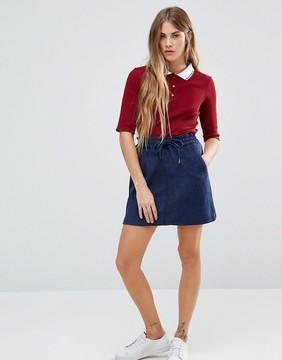 Brave Soul Mini Skirt With Drawstring Waist