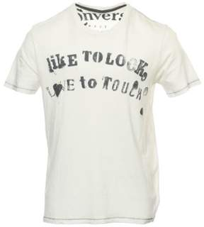 Converse Mens Light Gray Graphic T-Shirt
