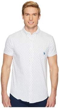 U.S. Polo Assn. Short Sleeve Slim Fit Fancy Shirt Men's Clothing