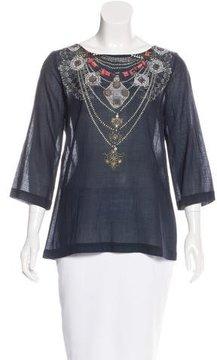 Figue Serafina Jewel Print Top t w/ Tags