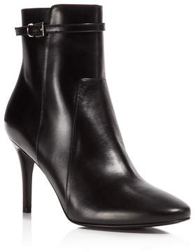 Charles David Prism Leather High Heel Booties