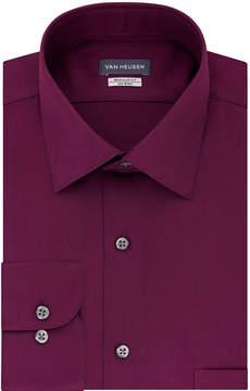 Van Heusen No Iron Lux Sateen Long Sleeve Sateen Dress Shirt - Fitted