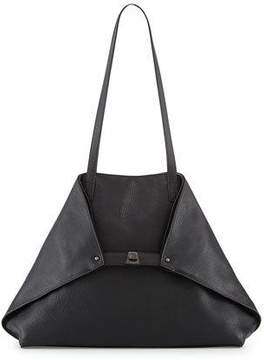 Akris Ai Leather Tote Bag, Black