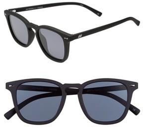 Le Specs Women's No Biggie 45Mm Polarized Sunglasses - Black Rubber