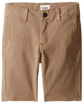 Hudson Beach Daze Raw Hem Sateen Chino Shorts in Dark Chino (Toddler/Little Kids/Big Kids)