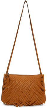 Bottega Veneta Orange Palio Fringes Double Strap Bag
