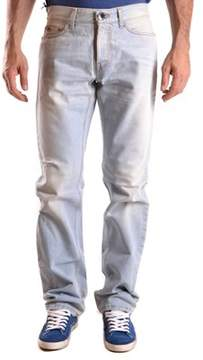 Richmond Men's Light Blue/white Cotton Jeans.