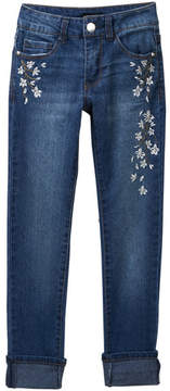 Bebe Embroidered Jeans with Flowers (Big Girls)