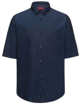 HUGO Boss Cotton Sport Shirt, Oversize Fit Eynold S Dark Blue