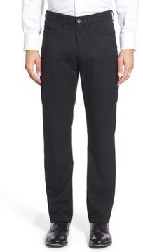 Ballin Men's Flat Front Solid Wool Blend Trousers