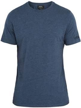 A.P.C. Crew-neck cotton-blend T-shirt