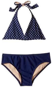 Toobydoo Navy and White Dot Bikini (Infant/Toddler/Little Kids/Big Kids)