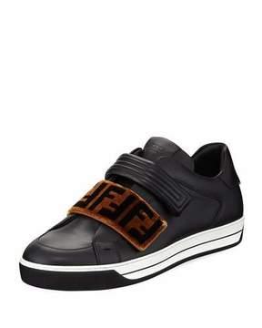 Fendi Signature Grip-Strap Low-Top Sneaker