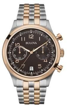 Bulova Classic 98B248 Black Silver Stainless Steel Analog Quartz Men Watch