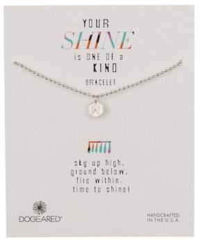 Dogeared Sterling Silver Your Shine Angel Wing Token Bracelet