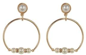Ettika Pearl Hoop Earrings