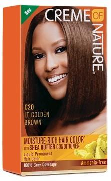 Crème Of Nature Moisture Rich Hair Color C20 Light Golden Brown Kit