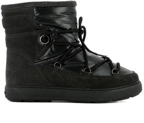 Moncler Black Fabric Ankle Boots
