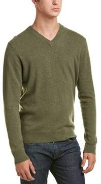 Qi Cashmere V-neck Sweater.