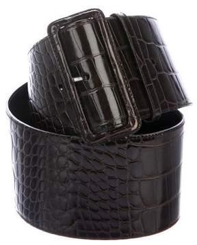 Prada Crocodile Waist Belt