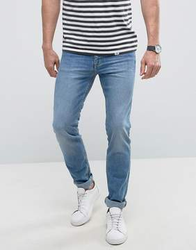 MANGO Man Slim Jeans In Light Wash Blue