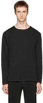 Issey Miyake Black Long Sleeve Basic Bio T-Shirt