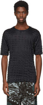 Issey Miyake Black Ruched Shrunk T-Shirt