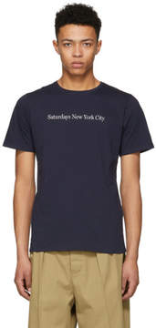 Saturdays NYC Navy Logo T-Shirt
