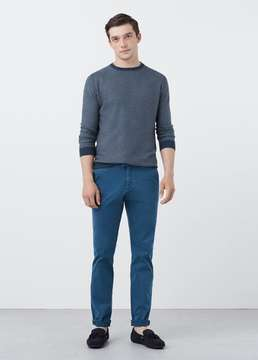 Mango Outlet Slim-fit garment-dyed chinos