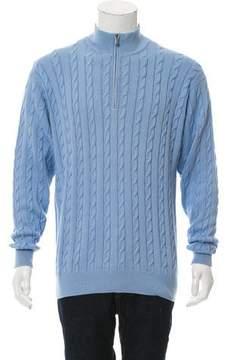 Loro Piana Cable Knit Half-Zip Sweater